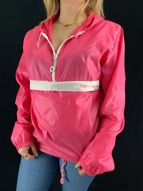 Pink Hooded Windbreaker View 1