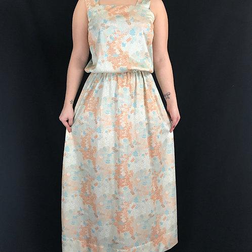 Floral Sleeveless Blouson Maxi Dress View 1