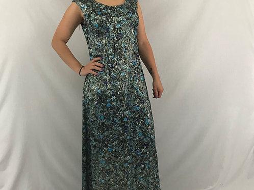 Metallic Lurex Sleeveless Maxi Dress View 1