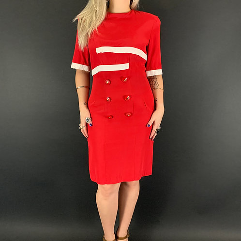 Red And White Nautical Dress View 1