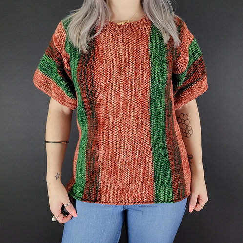 Marled Knit Pullover Sweater View 1