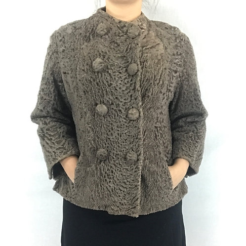 Sheared Persian Lamb Fur Coat View 1