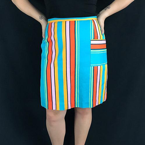 Multicolored Striped High Waist Skort View 1