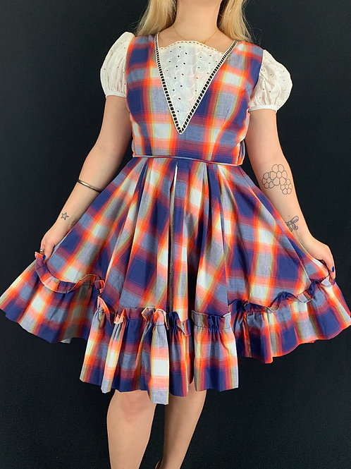 Plaid Square Dance Dress View 1