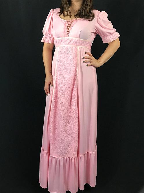 Pink Prairie Maxi Dress View 1