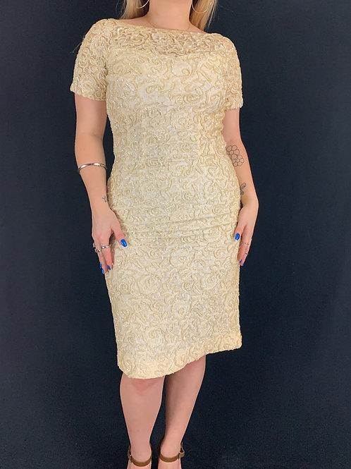 Lace Sequin Sheath Dress View 1