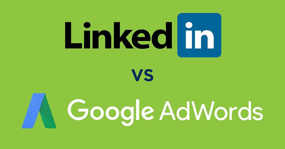 LinkedIn vs. Google AdWords Infographic