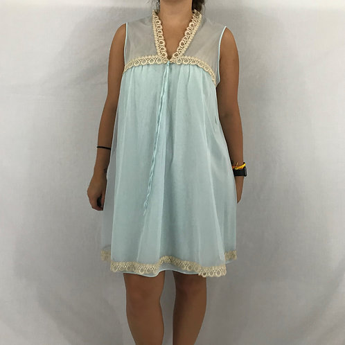 Antron Nylon And Lace Baby Doll Night Gown View 1