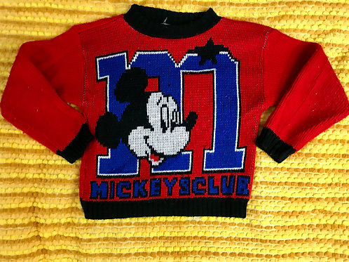 Childrens Mickey Mouse Pullover Sweater View 1