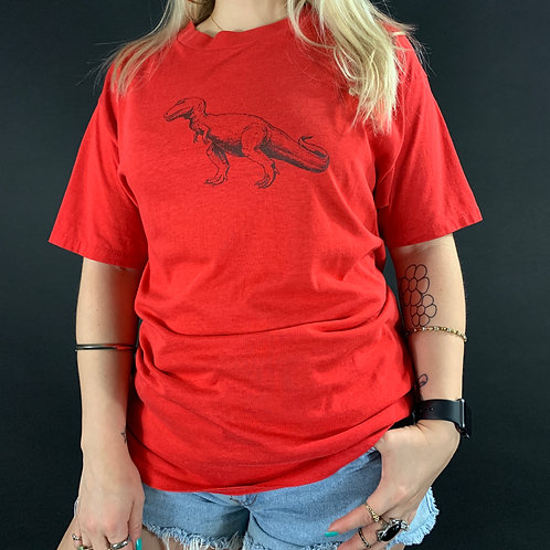Red And Black Tyrannosaurus Rex T-Shirt View 1