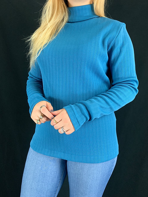 Teal Ribbed Sweater View 1