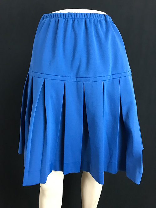 Blue Knee Length Pleated Skirt View 1