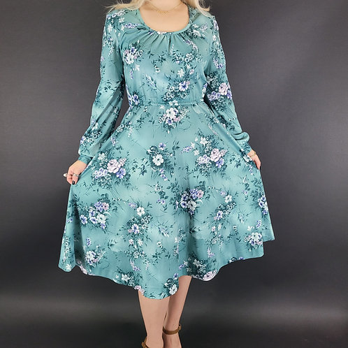 Garden Floral Long Sleeve Day Dress View 1