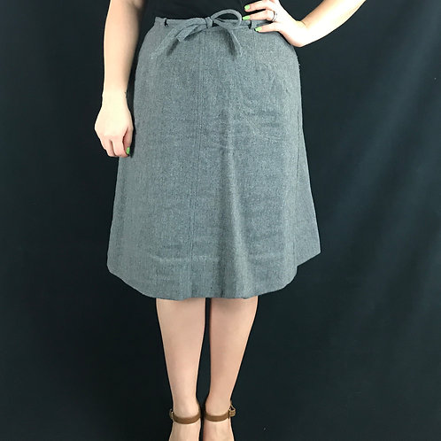 Dark Gray Wool Wrap Skirt View 1