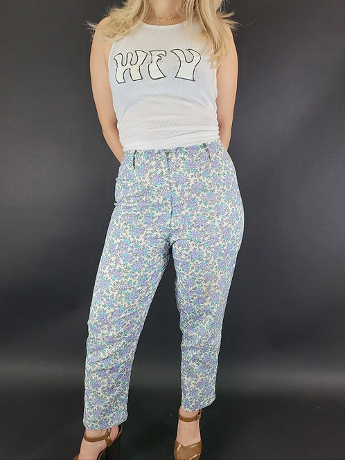 Floral High Rise Pants View 1
