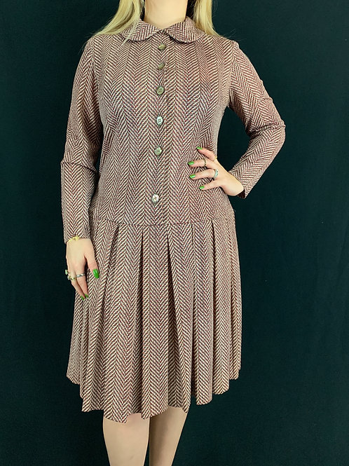 Peter Pan Collar Long Sleeve Dress View 1