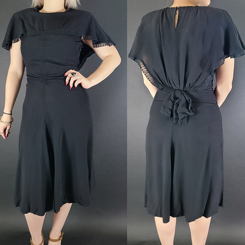 Black Sailor Collar Dress With Bow Accent View 1