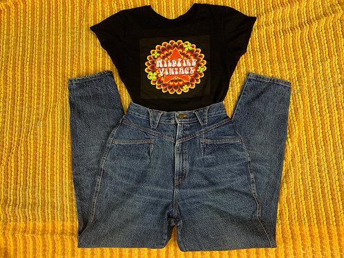 Medium Wash Denim High Waist Jeans View 1