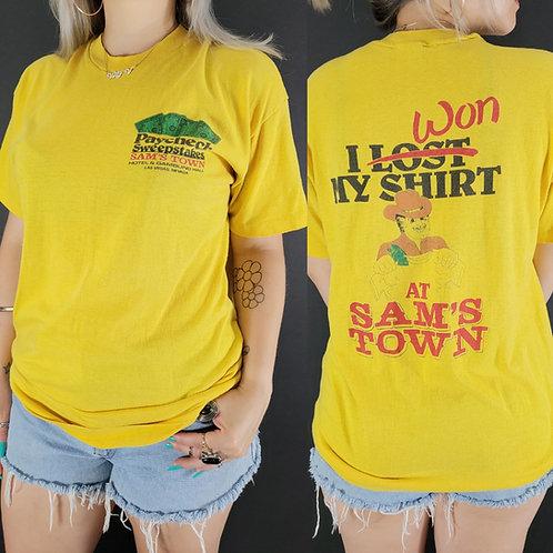 Yellow Sam's Town Casino Promo T-Shirt View 1