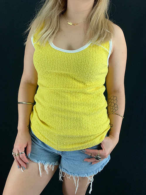 Yellow Terry Cloth Tank Top View 1