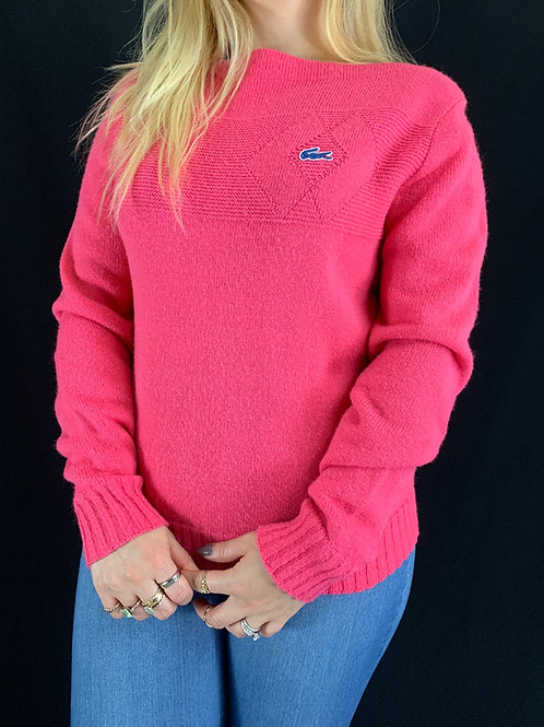 Pink Boat Neck Sweater View 1