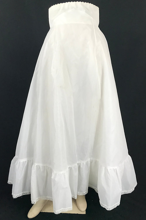 White Full Length Crinoline Petticoat View 1