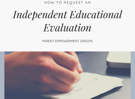 Requesting An Independent Educational Evaluation