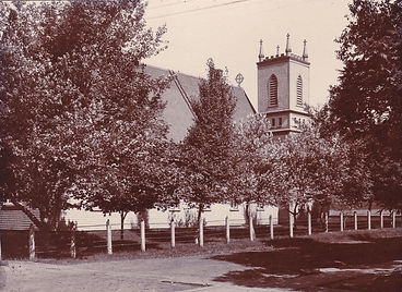 The orginal St. Mary's Church in Summerside, PEI. Built in the 1850s and destroyed by fire in 1906.