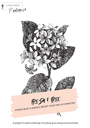 Fresh and free workbook cover