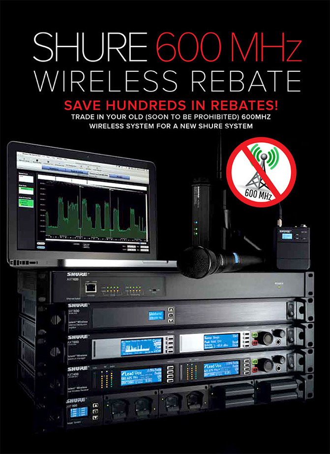 SAVE HUNDREDS ON NEW SHURE WIRELESS SYSTEMS