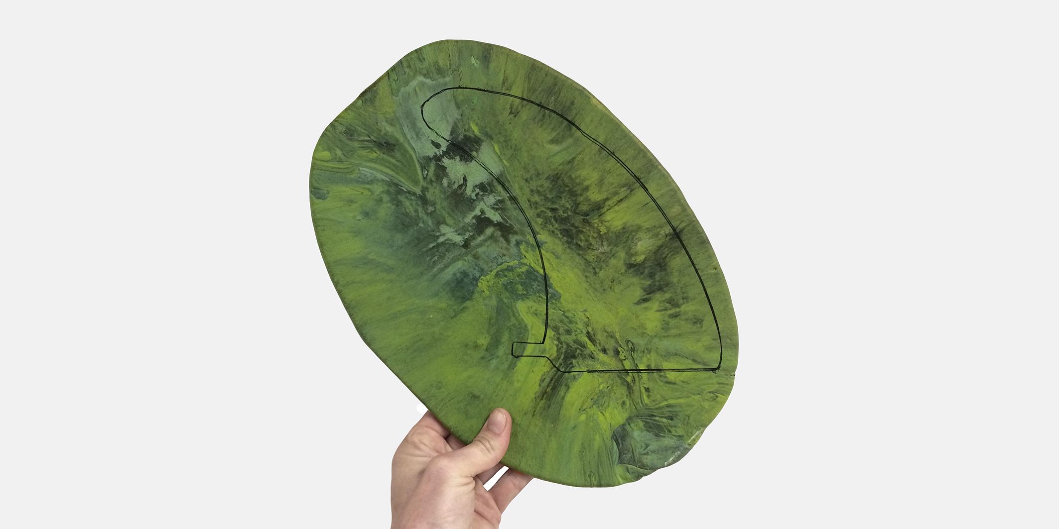 1 sheet longboard fin
