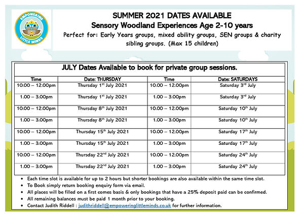 private group July 2021 session times av