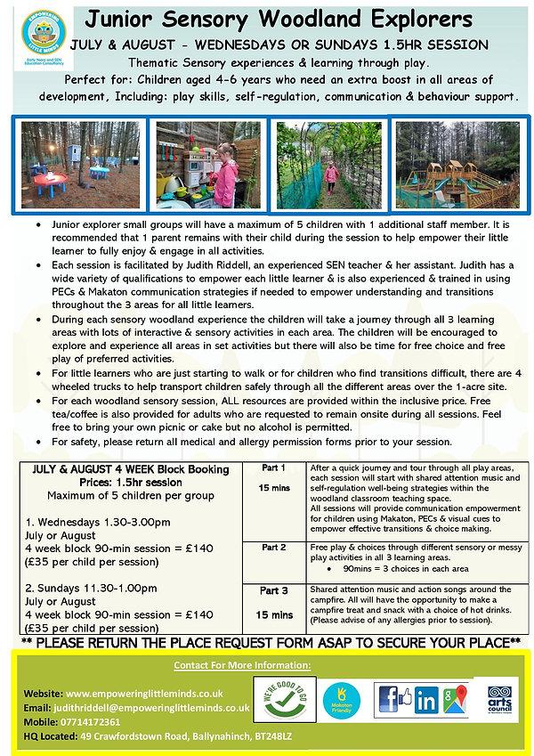 Summer Junior Sensory Woodland Explorers