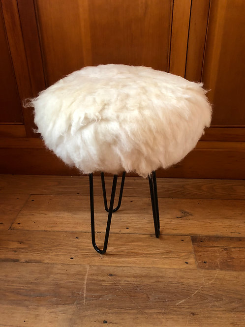 White Sheepskin Stools and Footstools