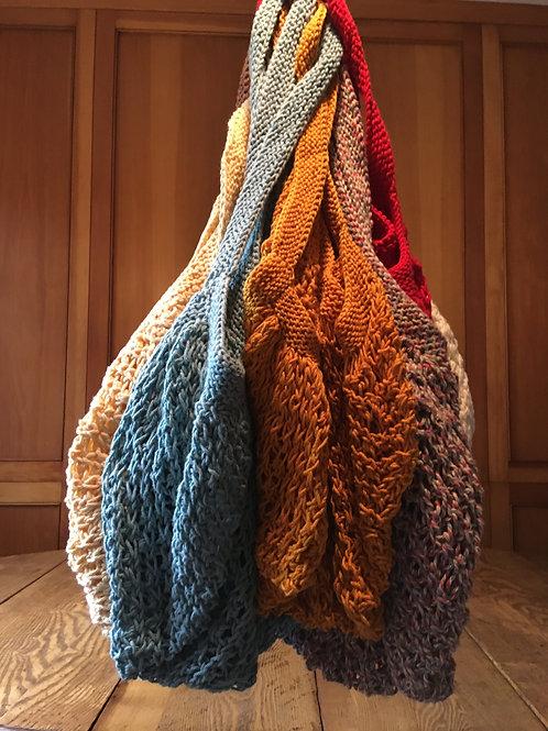 Handknit Cotton Market Bags