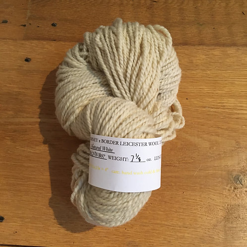 Romney-Border Leicester Natural White 2-ply BULKY
