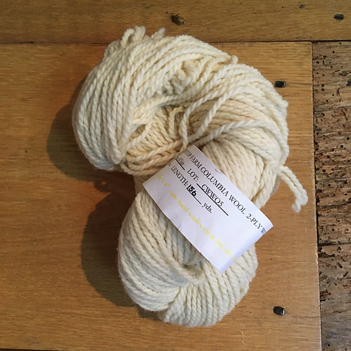 Meadowtop Columbia White 2-ply WORSTED