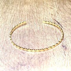 Bracelet Doré Jonc Fin Ouvert Acier Inoxydable