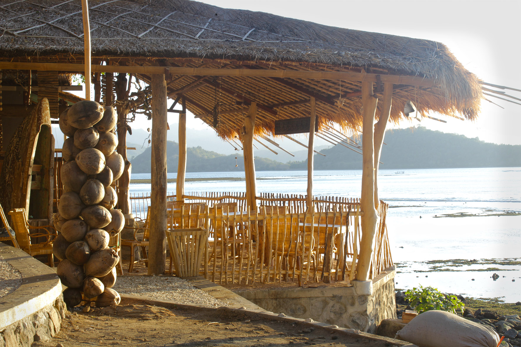 Restaurant at Hula Hoop, Lombok