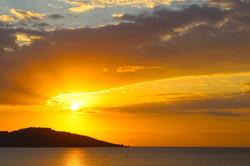 Eclectic sunsets at Hula Hoop, Gili