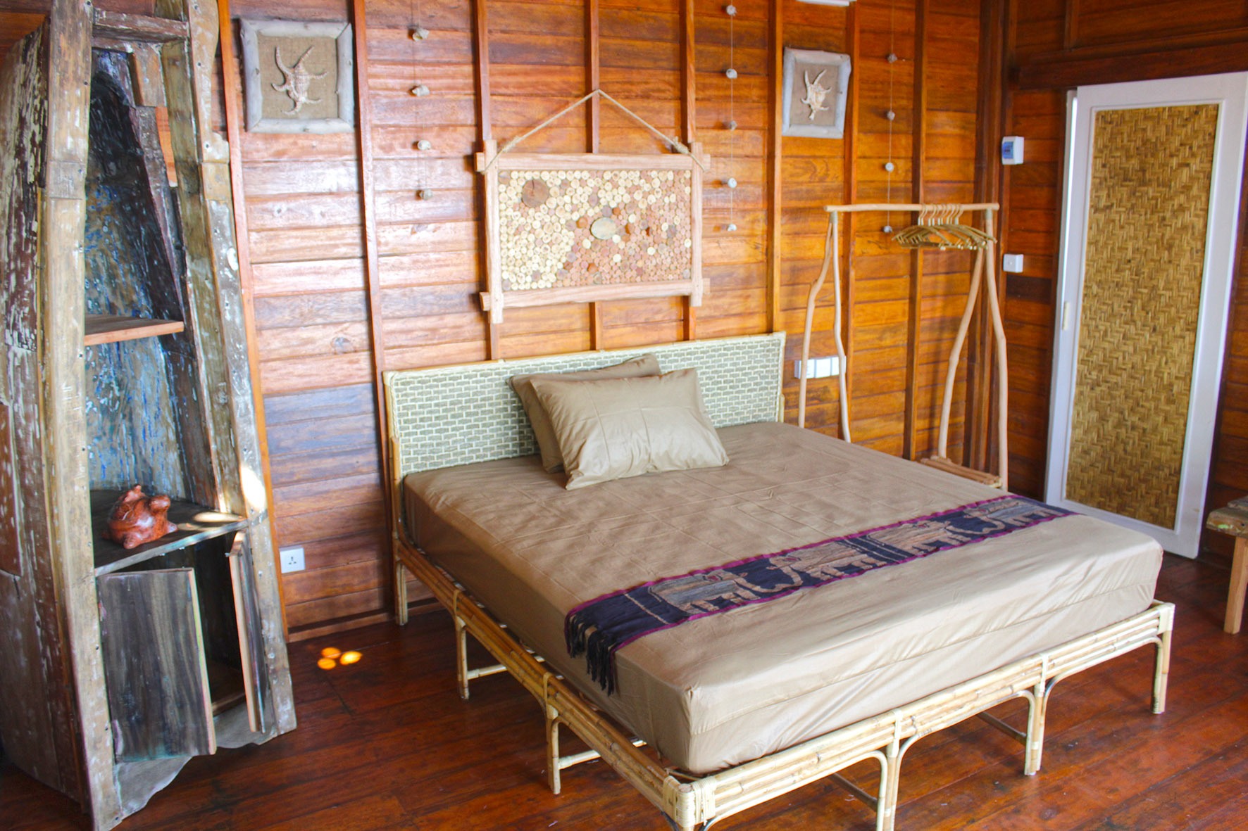 Interior of bungalow at Hula Hoop