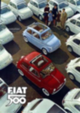 Fiat 500 vintage advertisment