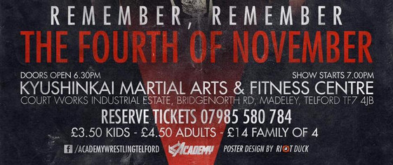 The Academy Wrestling - Remember, Remember the Fourth of November