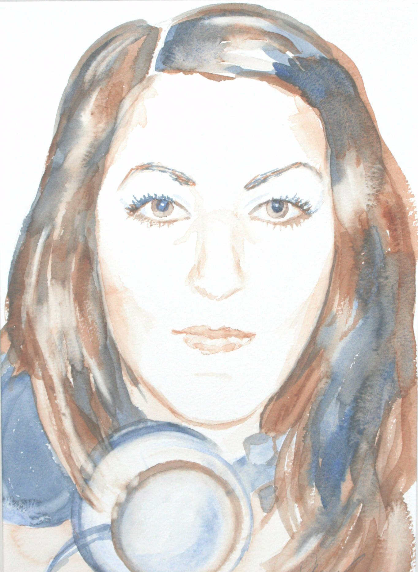 DJ Charlotte - Watercolour (24cmx34cm)
