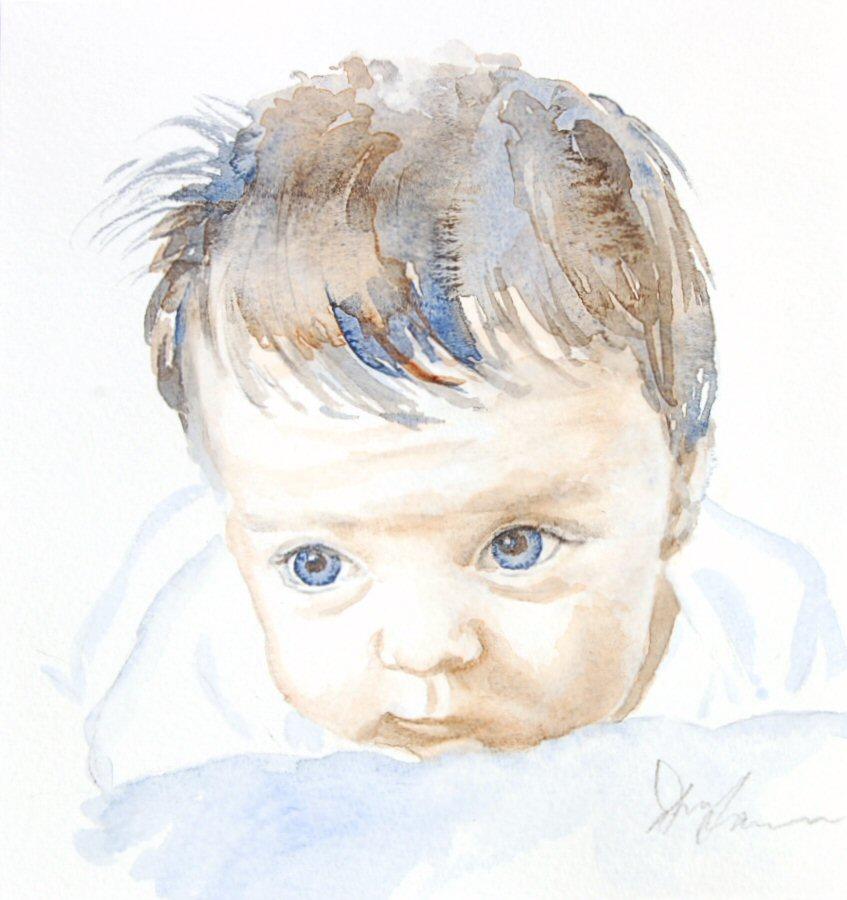 Chloe - Watercolour (17cmx18cm)