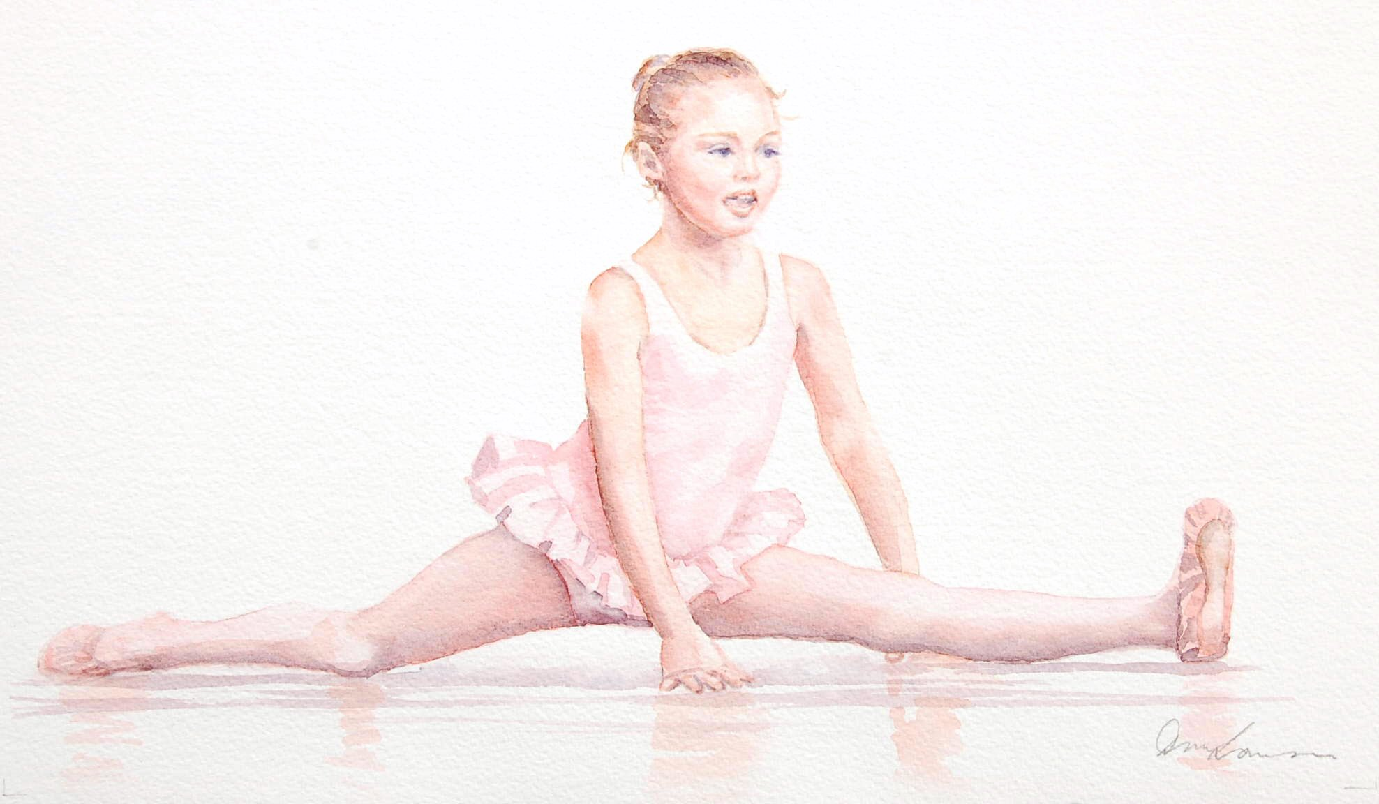 Elise Ballerina - Watercolour (42cmx26cm)