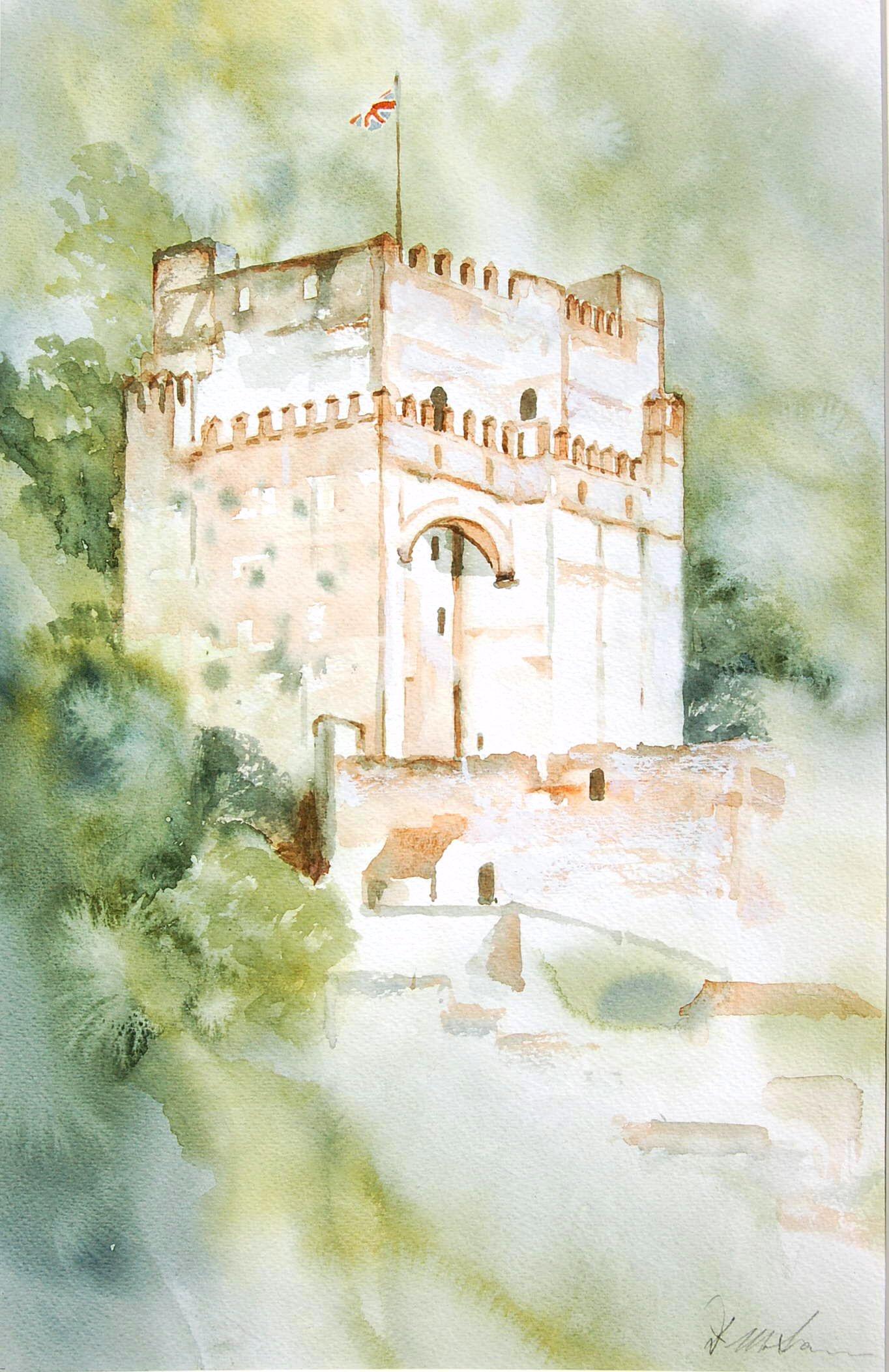 Moorish Castle No 2 - 29cmx45cm