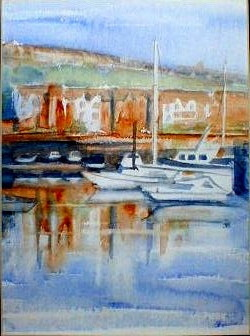 St. Peter's Basin, River Tyne No 1 - 20cmx27cm