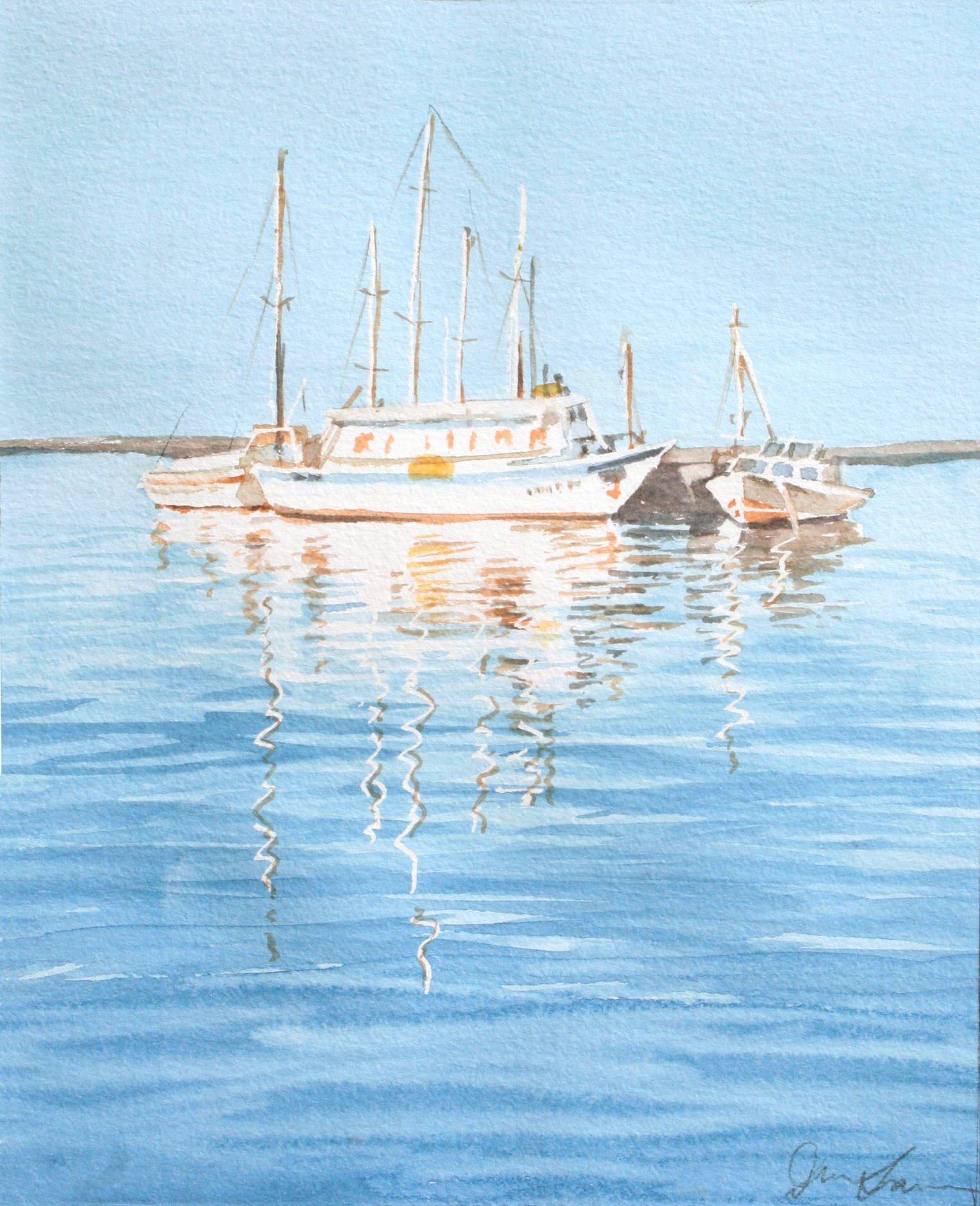 Boats - 19cmx24cm
