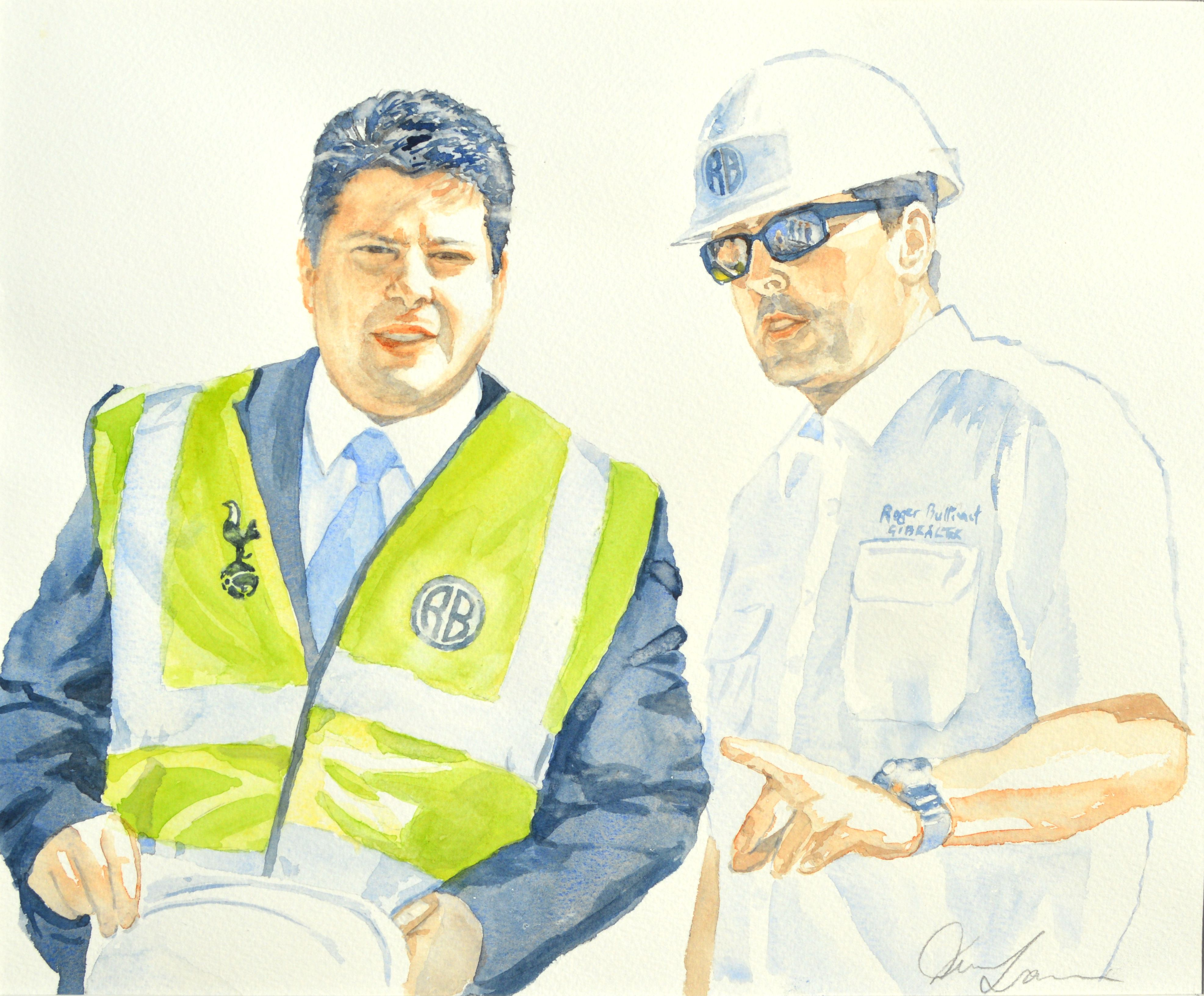 Cheif Minister and Andy McGowan - 37cm x 31cm